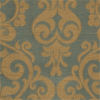 Peacock Damask Fabric by Trend 01029