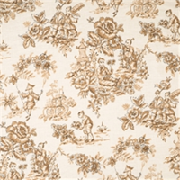 Caramel Toile Fabric by Jaclyn Smith 01827
