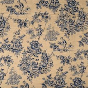 Indigo Toile Fabric by Jaclyn Smith 01827