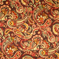 Pecan Paisley Fabric by Jaclyn Smith 01829