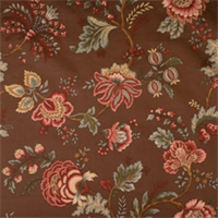 Coffee Jacobean Fabric by Jaclyn Smith 01830