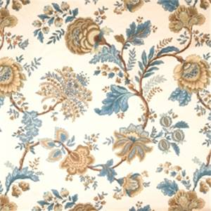 Peacock Jacobean Fabric by Jaclyn Smith 01830