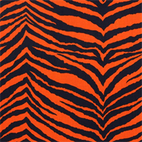 Tunisia Navy Orange Printed by Premier Print - Drapery Fabric