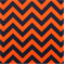 Zig Zag Orange Navy Stripe by Premier Print - Drapery Fabric