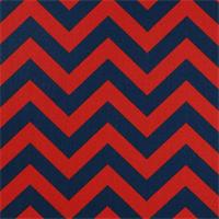 Zig Zag Lipstick Blue Stripe by Premier Print - Drapery Fabric