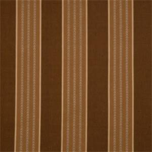 Molasses Striped Fabric by Jaclyn Smith 01843