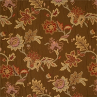 Coffee Floral Drapery Fabric by Jaclyn Smith 01846
