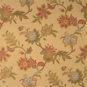 Crimson Floral Drapery Fabric by Jaclyn Smith 01846