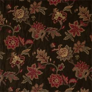 Jet Floral Drapery Fabric by Jaclyn Smith 01846