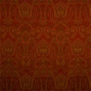 Crimson Paisley Drapery Fabric by Jaclyn Smith 01848
