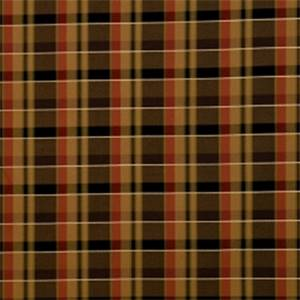 Caramel Plaid Drapery Fabric by Jaclyn Smith 01849