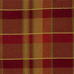 Crimson Plaid Drapery Fabric by Jaclyn Smith 01849