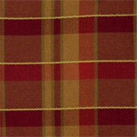 Crimson Plaid Drapery Fabric by Jaclyn Smith 01849
