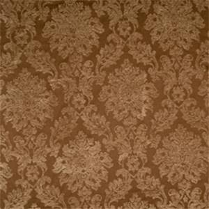 Coffee Damask Drapery Fabric by Jaclyn Smith 01850