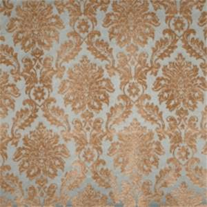 Peacock Damask Drapery Fabric by Jaclyn Smith 01850