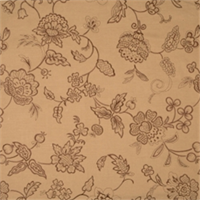 Coffee Embroidered Floral Drapery Fabric by Jaclyn Smith 01852