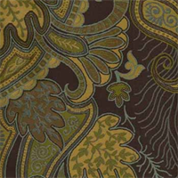 Staccato Chocolate Paisley Upholstery Fabric