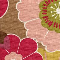Mia Citrine Floral Slubby Basket Drapery Fabric by P Kaufman