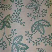 Details Seafoam Embroidered Floral Drapery Fabric