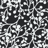Blossom Vine - Black Indoor/Outdoor Fabric 30 yard bolt