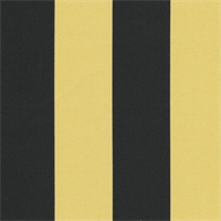 Deck Stripe - Black/Yellow Indoor/Outdoor Fabric 30 yard bolt