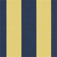 Deck Stripe Royal/Yellow Indoor/Outdoor Fabric 30 yard bolt