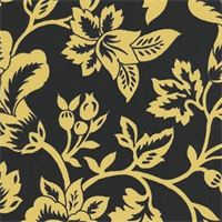 Flower Show - Black/Yellow Indoor/Outdoor Fabric 30 yard bolt