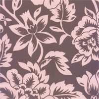 Flower Show - Pink/Brown Indoor/Outdoor Fabric 30 yard bolt