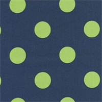 Polka Dot - Royal/Lime Indoor/Outdoor Fabric 30 yard bolt