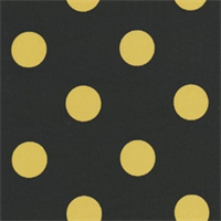 Polka Dot - Black/Yellow Indoor/Outdoor Fabric 30 yard bolt