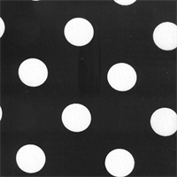 Polka Dot - Black Indoor/Outdoor Fabric 30 yard bolt