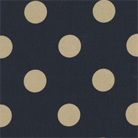 Polka Dot - Black/Tan Indoor/Outdoor Fabric 30 yard bolt