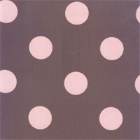 Polka Dot - Pink/Brown Indoor/Outdoor Fabric 30 yard bolt