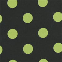 Polka Dot - Black/Lime Indoor/Outdoor Fabric 30 yard bolt