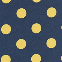 Polka Dot - Royal/Yellow Indoor/Outdoor Fabric 30 yard bolt