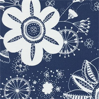 Flower Power - Royal Indoor/Outdoor Fabric 30 yard bolt