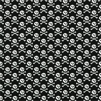 Crossbones Black & White Printed by Premier Prints - Drapery Fabric