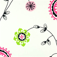 Emma Candy Pink Floral Printed by Premier Print - Drapery Fabric