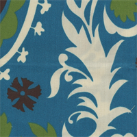 Suzani Blue Moon Outdoor Premier Prints Drapery Fabric
