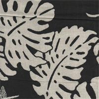 Shangrila Black Reversible Floral Upholstery Fabric