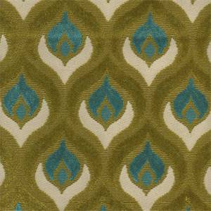 Grenoble Blue/Green Chenille Upholstery Fabric