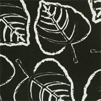 Leaf Ebony Outdoor by Premier Prints - Drapery Fabric