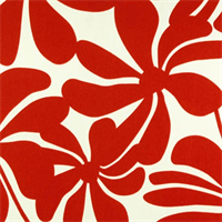 Twirly American Red Floral Outdoor by Premier Prints - Drapery Fabric