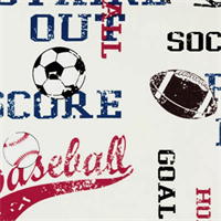 Sports American Blue by Premier Prints - Drapery Fabric