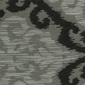 Vuillard Graphite Ikat Chenille Upholstery Fabric