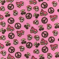 Abby Hot Pink Minky Fabric
