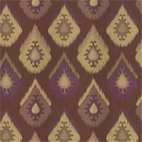 Raindrop Plum Ikat Drapery Fabric