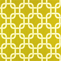 Gotcha Summerland/Yellow Natural  by Premier Prints - Drapery Fabric