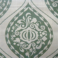 Ogee Aquamarine Green Large Medallion Drapery Fabric by DwellStudio for Robert Allen
