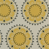 Medallion Band Citrine Suzanni  Drapery Fabric by DwellStudio for Robert Allen
